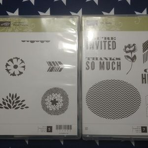 2 Retired Stamping Up sets, unmounted